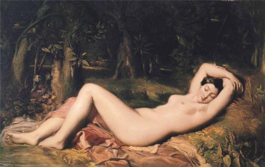 Bather Sleeping Near a Spring-1850