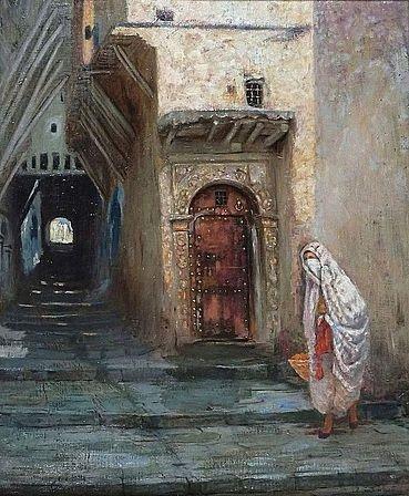 Dans les rues de la Casbah d'Alger - 1897