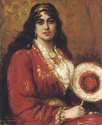 An Oriental Lady Holding a Fan