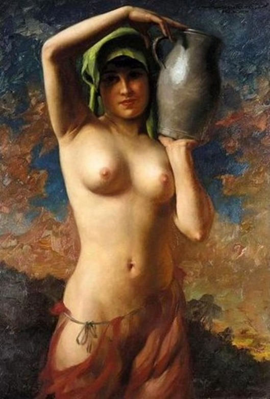 Nude with Water Jug