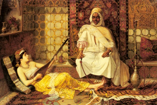 The Opium Den Odalisque Playing Music
